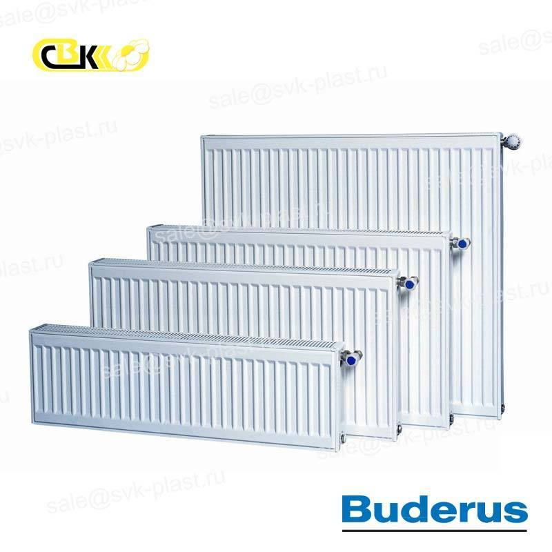 Buderus steel panel radiator, Type 30, Side connection K-Profil
