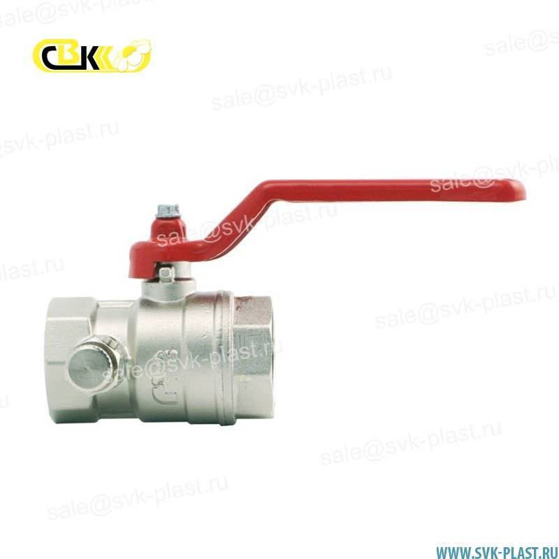 ITAP ball Valve with drain hole IDEAL 115 model BP/BP, lever handle