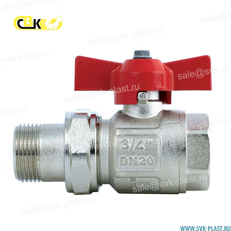 ITAP full-bore ball Valve with cap nut IDEAL 098 model HP / BP, butterfly handle