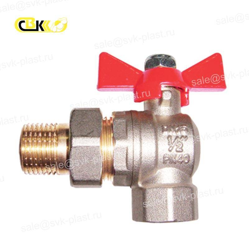 ALTSTREAM ball Valve with split connection corner HP / BP, butterfly handle