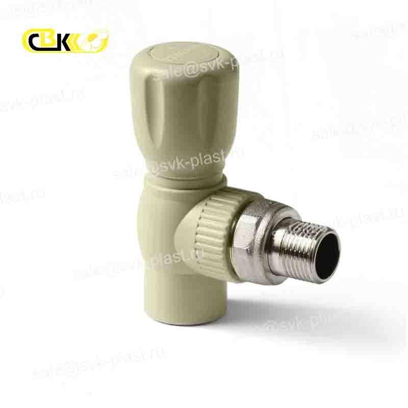 ProAqua ball valve for radiator corner PP-R Grise