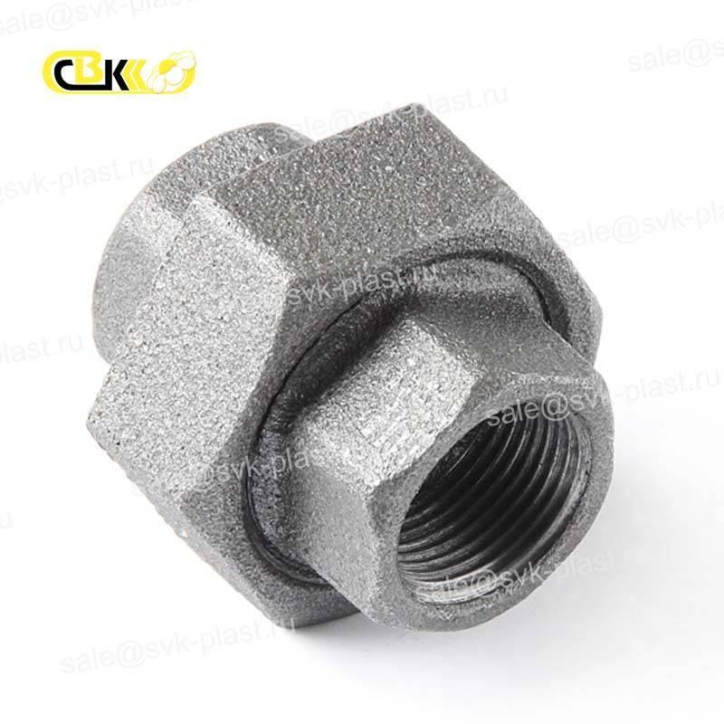 Split connection, cast iron, not galvanized, straight NR / BP