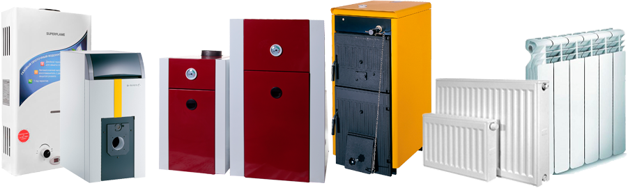 Gas, electric and solid fuel boilers