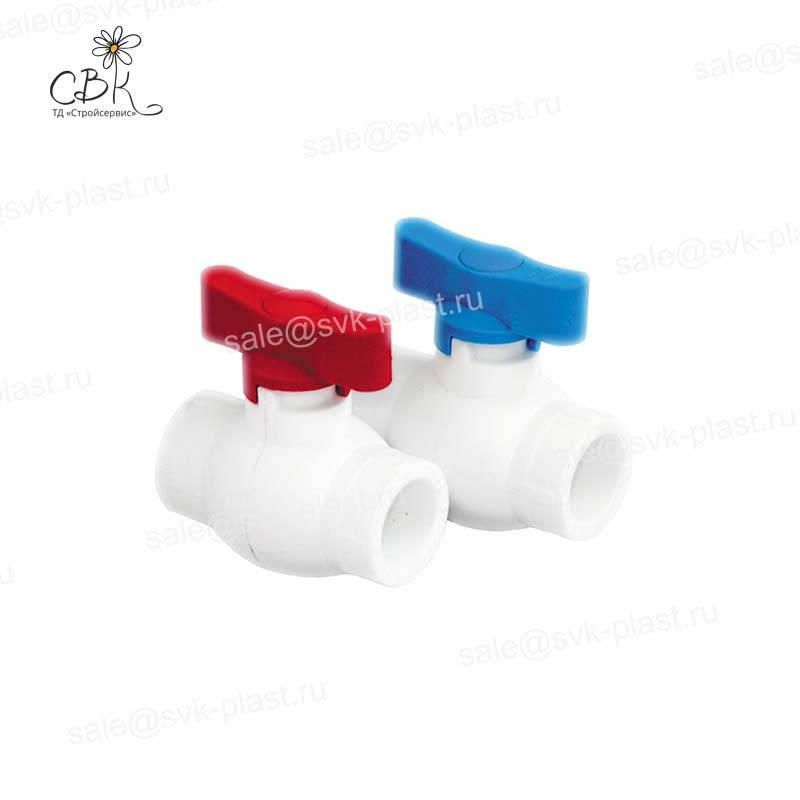 RTP Butterfly Ball Valve (Red)